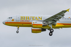 Bhutan Airlines A319 A5-DOR at Newcastle on Delivery (Mark_Aviation) Tags: bhutan airlines a319 a5dor newcastle airport delivery flight egnt ncl aircraft airplane air aviation airbus aerospace aeroplane arriving airshow arrival rare passenger plane jet frontier n952fr