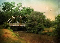 Spanning Time (Straublund1) Tags: bridge distressedtexture creek old steel iron texture