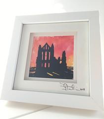Whitby Abbey in watercolour & ink... (GP1805) Tags: artwork art artist draw drawings drawing pencil inkdrawing ink sketch watercolour watercolor yorkshire derwent winsorandnewton fabercastell pentel whitbyabbey whitby sunset