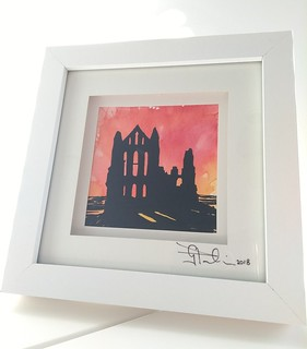 Whitby Abbey in watercolour & ink...