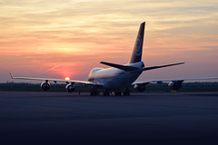 When the sun has set, no candle can replace it (solapi) Tags: sunset b747 leipzig plane airport