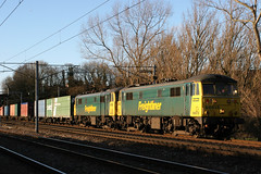 86613+86632 4M74 (Cumberland Patriot) Tags: porterbrook leasing company freightliner br british rail ee english electric al6 class 86 866 86613 86632 cans 25kv ohl overhead line locomotive loco container iso 4m74 powerhaul power haul intermodal train trains freight goods wcml west coast main