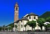 Druogno (Vb) - Chiesa Parrocchiale di San Silvestro (Sec. XII) (frank28883) Tags: druogno verbanocusioossola vallevigezzo chiesa chiesaparrocchiale alberi campanile abside