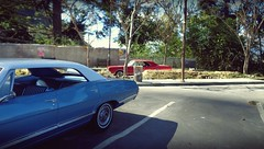 Late Sixties Parking Lot 1 (gpholtz) Tags: diorama miniatures 118 diecast 1967 chevrolet impala