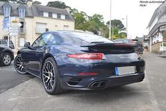 Porsche 911 Turbo S 991 (Monde-Auto Passion Photos) Tags: voiture vehicule auto automobile porsche 911 turbo turbos coupé sportive supercar bleu blue 991 rare rareté france latrinitésurmer