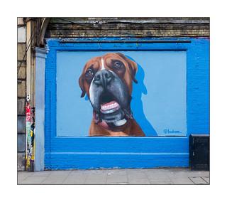 Street Art (Buskone), East London, England.
