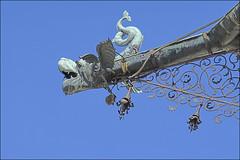 Wasserspeier / Gargoyle (Runemaker) Tags: folklore volkskunde wasserspeier gargoyle rainspout waterspout dachrinne regenrinne stift abbey roof dach sanktflorian saintflorian stflorian architecture architektur austria österreich drache dragon