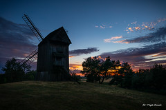 Sunset (Magda Banach) Tags: canon moraczewo windmill koźlak panorama polska lednogóra poland pl canoneos5dmarkiv clouds dramatic trees colors landscape summer outdoors nature blue sky afterstorm field plants silhouette evening greaterpoland sunset green