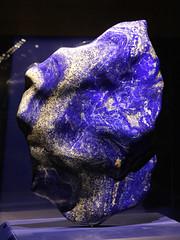 "The ""Blue Flame"" Lapis lazuli (Lazurite) (greyloch) Tags: smithsonian museum naturalhistory gemstone lapislazuli lazurite blue big display unedited"