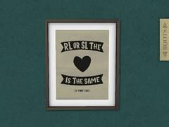 """The Heart"" [Framed Print] (l ROOTS l) Tags: second life freebie free sl frame art decor"