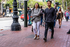 San Francisco 2018 (burnt dirt) Tags: sanfrancisco california vacation town city street road sidewalk crossing streetcar cablecar tree building store restaurant people person girl woman man couple group lovers friends family holdinghands candid documentary streetphotography turnaround portrait fujifilm xt1 color laugh smile young old asian latina white european europe korean chinese thai dress skirt denim shorts boots heels leather tights leggings yogapants shorthair longhair cellphone glasses sunglasses blonde brunette redhead tattoo pretty beautiful selfie fashion japanese gray gold windy two