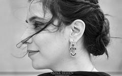 Her Eid Portrait (Amna Yaseen) Tags: eid 2018 gale eidulfitr girl silverjewelry woman femalephotographer wind lahore pakistan blackandwhite monochrome