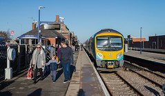 Return to Cleethorpes (Nodding Pig) Tags: cleethorpes railway station train lincolnshire england greatbritain uk 2018 class185 dieselmultipleunit siemens desiro 185133 transpennineexpress passengers winter 201802129384102crop