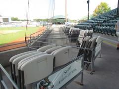 Season Ticket Seats at Grainger Stadium -- Kinston, NC, June 28, 2018 (baseballoogie) Tags: 062818 baseball baseball18 baseballpark ballpark stadium graingerstadium canonpowershotsx30is downeastwoodducks woodducks carolina league a milb kinston nc northcarolina