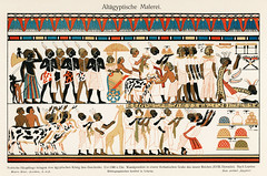 Ancient Eygptian Painting (1904), depicting an ancient vibrantly colored illustration of Nubian chiefs bringing gifts to their king. Digitally enhanced from our own antique print. (Free Public Domain Illustrations by rawpixel) Tags: egyptian otherkeywords tags ancienteygptianpainting anthropology antique archeology art background bright cc0 chief chromolithograph civilization color colored colorful colors cultural culture drawing egypt era eygpt eygptian german god group historical history human illustrated illustration king lithograph nubia nubian old painting people plate print publicdomain retro royal sacred time times vibrant vintage wallpaper