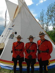 Tipi Village Calgary Stampede RCMP (Mr. Happy Face - Peace :)) Tags: yyc firstnations tipi stampede calgary alberta canada art2018 nwmp rcmp strangers police flickrfriday flickerfriends policman policewoman history icon proud service wtbw