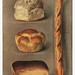 The Grocer's Encyclopedia (1911), a vintage collection of various types of baked bread loaves. Digitally enhanced from our own original plate.