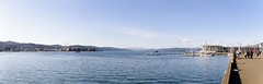 Wellington Harbour from Te Papa, July 2018 (Den Rob) Tags: wellington harbour panorama july 2018 water sea sunshine cranes boats marina hotel people wharf hills distance view nikon d750 tamron 2470mm f28