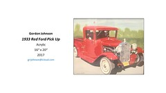 """1933 Red Ford Pick Up • <a style=""""font-size:0.8em;"""" href=""""https://www.flickr.com/photos/124378531@N04/43463939822/"""" target=""""_blank"""">View on Flickr</a>"""