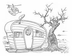 Night Spirit (rod1691) Tags: myart art sketchbook bw scfi grey concept custom car retro space hotrod drawing pencil h2 hb original story fantasy funny tale automotive illustration greyscale moonpies sketch sexy voodoo