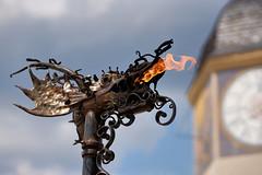 Fire-drake - Feuerdrache (W_von_S) Tags: burgfest castle feast medieval dragon firedragon feuerdrache mittelalterlich burg burghausen bavaria bayern germany deutschland wvons werner sony sonyilce7rm2 impression juli july 2018 outdoor focus fokus fest festival