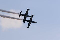 Patrouille Sparflex - Aero L-39 Albatros (CHRISTOPHE CHAMPAGNE) Tags: 2018 epernairshow lfsw aerodrome epernay plivot meeting aerien patrouille sparflex michel soutiran flysun aero l39 albatros aymeric devalence