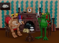Shercroak Holmes and Doctor Toadson (Space Glove) Tags: lego ldd frog toad detective