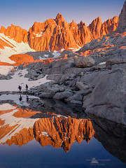 Mount Whitney (www.fourcorners.photography) Tags: mtwhitney sierranevada highsierra lonepine whitneyportal sequoianationalpark johnmuirtrail inyonationalforest alpine mountain snow reflection hiking backpacking backpacker greatbasindivide owenvalley granite mountwhitneytrail altitudesickness morningglow california inyo peterboehringerphotography fourcornersphotography