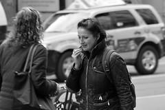Market St Candids 5-21-18 26 (TheseusPhoto) Tags: blancoynegro blackandwhite monochrome bnw street streetphotography streetportrait sanfrancisco marketstreet people candid candids smiling city citylife woman pretty talking phone