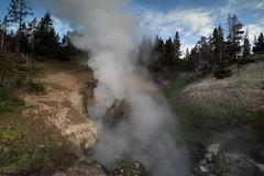 Dragons Mouth (csnyder103) Tags: yellowstonenationalpark mudvolcano steam geyser hotspring belching bubbling canoneosm5 canonefm1122
