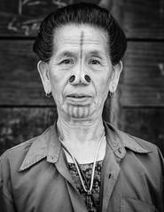 GSCF7138-2 (Deepak Kaw) Tags: apatani ziro arunachal india composition culture tradition portrait people fujifilm faces monochrome blackwhite