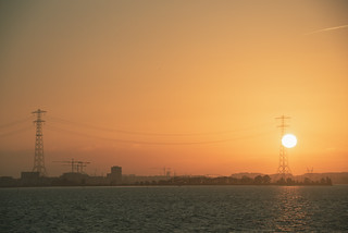 Beautiful sunset in Amsterdam, Netherlands