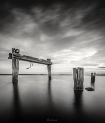 Black and White sunset (Gary Eastwood) Tags: jettyruins jetty nikon nikond750 longexposures nisifilters bnw sunset cloudsstormssunsetssunrises clouds seascape sea