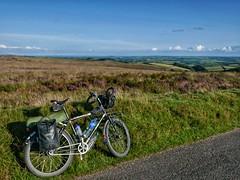Riding through a windy Exmoor.