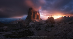 Snipers of lavaredo (Guillermo García Delgado) Tags: dolomites dolomitas dolomiti alps mountains mountain lavaredo tre cime landscape sunset clouds panoramic panorama photographer italy worldphotoxperience wpx