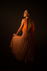 Lady (Pawel Wietecha) Tags: lady girl woman model dress studio light portrait beauty glamour face people look eyes new art dark orange