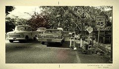 Road Railroad Crossing Photograph (gpholtz) Tags: diorama miniatures 118 diecast chevrolet biscayne 1966