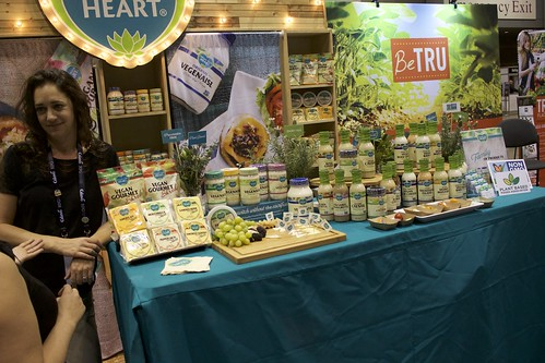"Follow Your Heart showed off their new lines of non-dairy ""cheeses"" as well as their classic pea-based vegenaise."