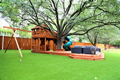 Backyard Family Time (Backyard Fun Factory) Tags: fortstockton playset cabins slides swings outdoor family