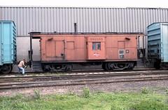 Milwaukee Road caboose 5-20-86 12 (jsmatlak) Tags: chicago milwaukee road railroad train freight switcher ce lakewood