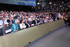 "Alongside dignitaries and parliamentarians from various countries in the ""Free Iran – The Alternative"" gathering - Villepinte, June 30, 2018 (maryamrajavi) Tags: regime overthrow certain iran free maryam rajavi paris resistance people victory grand gathering مریم رجوی ایران آزادی ویلپنت گردهمایی رژیم سرنگونی مسعود"