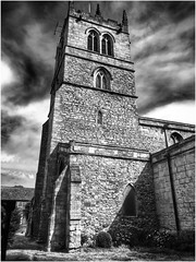 St Nicholas, Thorne (andystones64) Tags: church churchphotography churchphotos churchtower religiousbuilding religion worship prayer listed listedbuilding english heritage stonebuildings stonework masonary bw monochrome sky clouds cirrus