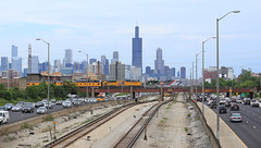 All kinds of Glory (GLC 392) Tags: up 1943 9082 sears tower down town willis chicago chitown highway downtown above sky line skyline railroad railway train support our troops union pacific passenger business trip road foreground glory special pcbch3