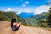 Since we couldn't do the boat or helicopter tour, we checked out Napali coast from here. We got lucky with a clear view of the valley (thomaslchen) Tags: thomaslchen photography blog kauai hawaii napali coast view valley