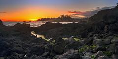 Ucluelet Shores (anj_p) Tags: bc shores pacific rocks uclulet vancouverisland westcoast sunset