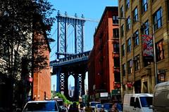 Manhattan Bridge (dangaken) Tags: nyc newyorkny newyorknewyork ny empirestate bigapple usa unitedstates us america summer city urban manhattanbridge bridge suspensionbridge brooklynbridgepark brooklyn dumbo fuji fujiflim xmount empirestatebuilding dgaken dangaken photobydangaken