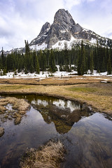 Liberty Bell (bombeeney) Tags: pnw northcascadeshighway northcascades washington mountains clouds reflections