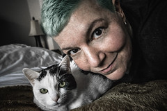 45 (Melissa Maples) Tags: brussel bruxelles brussels belgique belgië belgium europe nikon d3300 ニコン 尼康 sigma hsm 1020mm f456 1020mmf456 winter cherry animal kitty cat bed me melissa maples selfportrait woman bluehair greenhair birthday