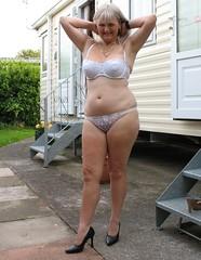 teasing (mjandbc) Tags: wife bra panties heels outdoor
