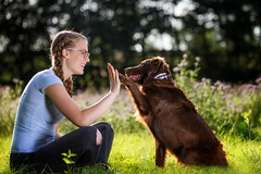 Marie und Lilly High Five (pipe notjustaphoto) Tags: dog high five girl